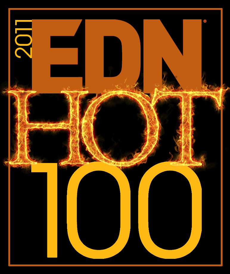 EDN Hot 100 products 2011 logo with link to article